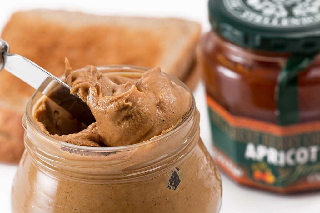 peanut butter, jam, glass jar, sustainable packaging
