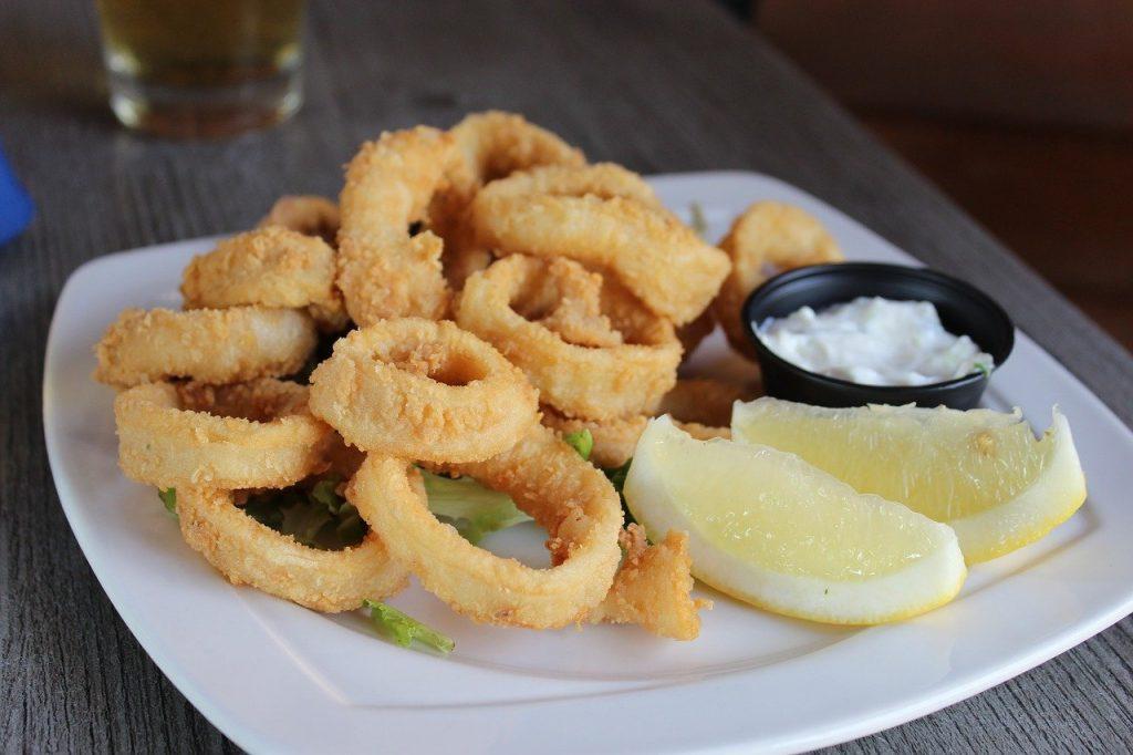squid, seafood, food