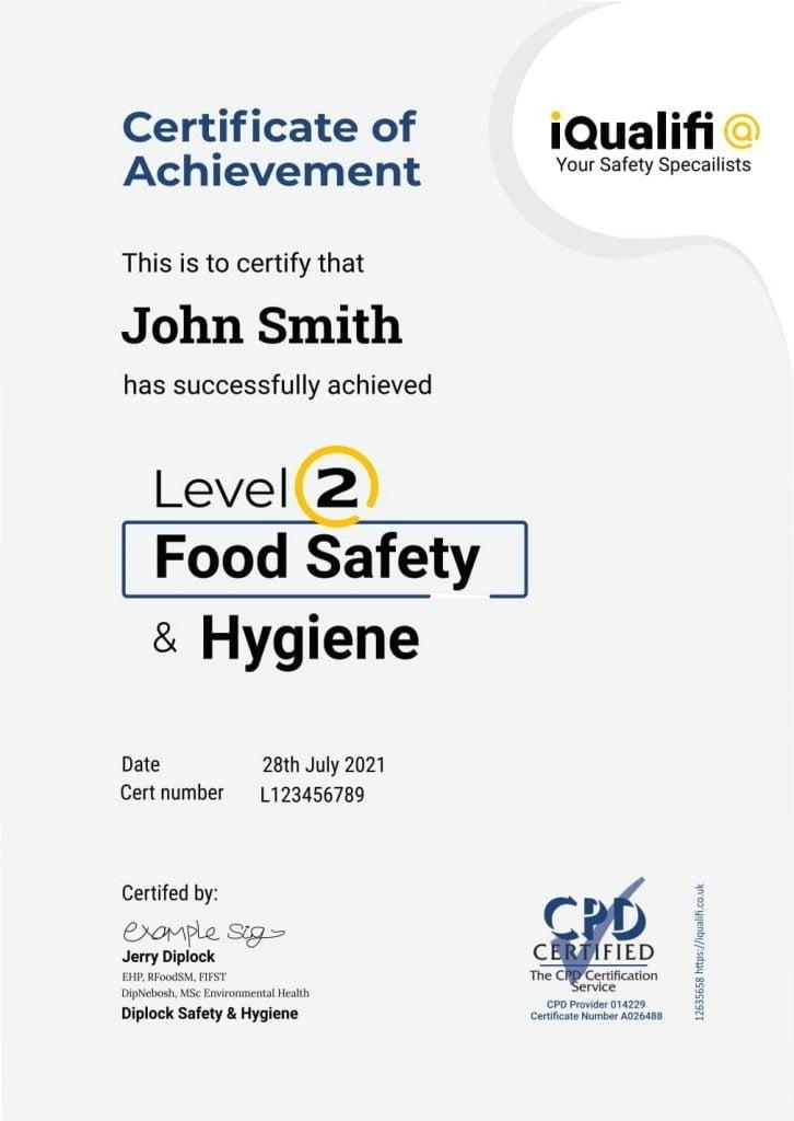 Level Two Food Hygiene